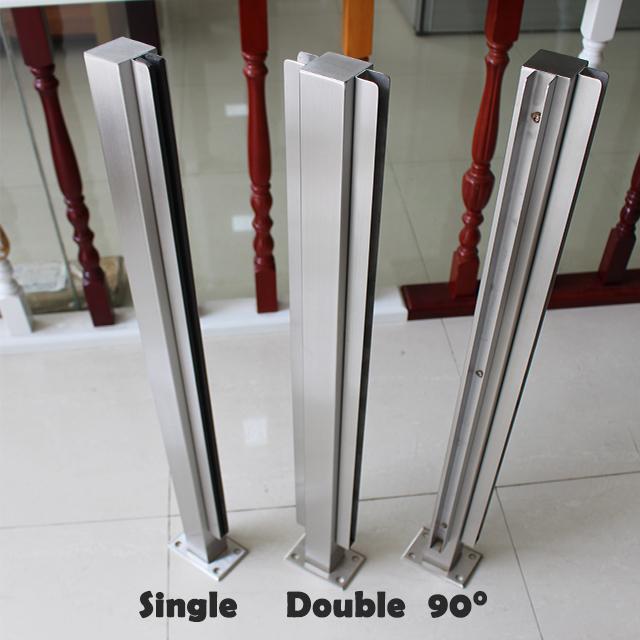 Трубчатый зажим из нержавеющей стали, закаленное стекло для строительства ограждения, конструкция столба, стеклянные перила, оборудование для балконных перил