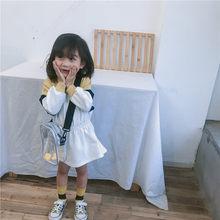 WLG/весенние платья в стиле пэчворк для девочек; детское платье с рюшами на молнии; цвет желтый, фиолетовый; детская повседневная универсальн...(Китай)