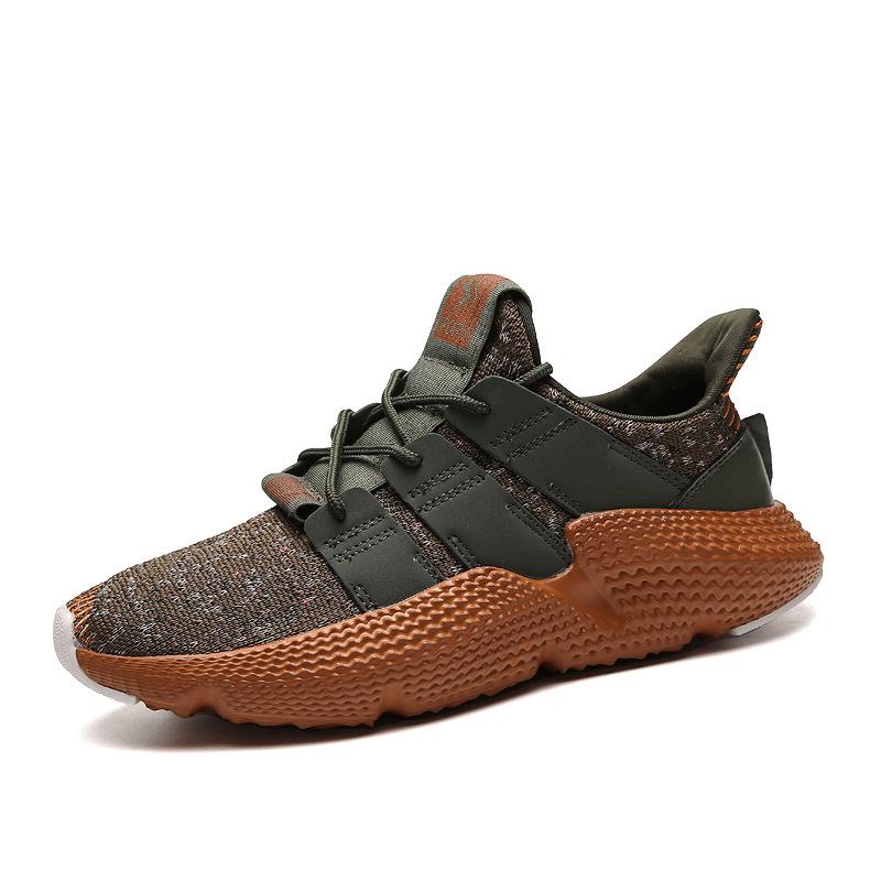 Распродажа, красивые износостойкие кроссовки для мужчин с мягким вязаным верхом и износостойкой подошвой MD