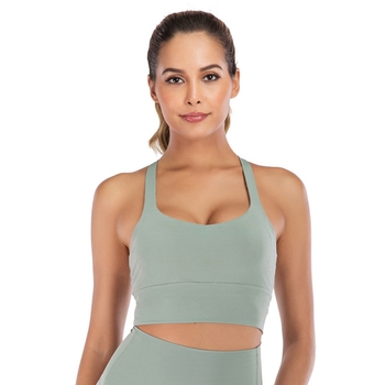 Wireless Push Up Apparel Manufacture Women's Clothing Yoga Training Top Bra