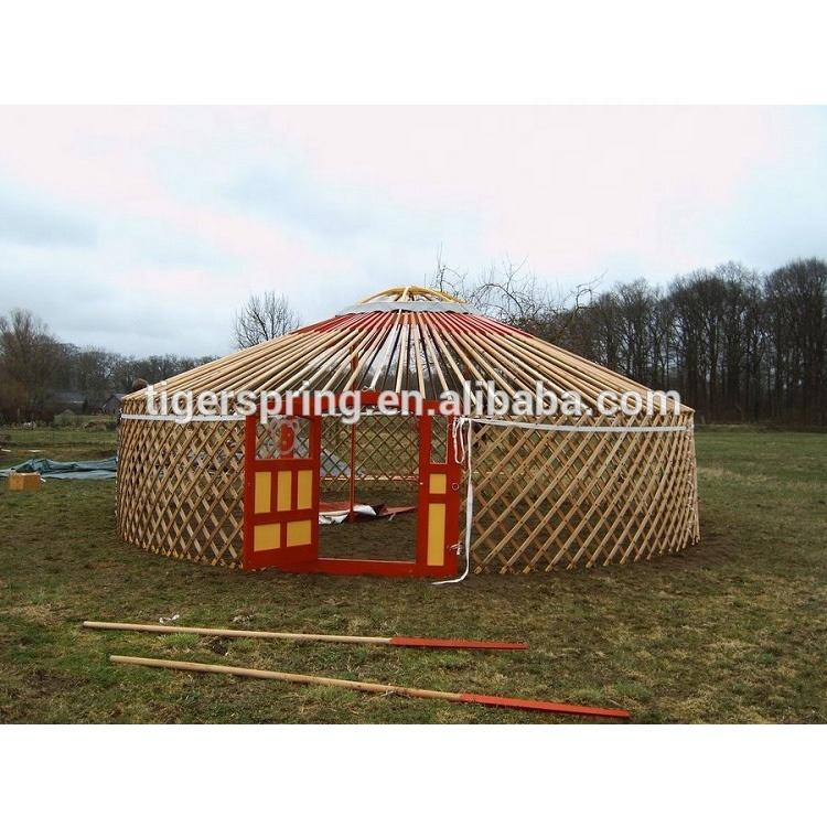 Wooden Frame Mongolian Yurt House Tent Buy Wooden Mongolian Yurt Mongolian House Yurt House Tent Product On Alibaba Com