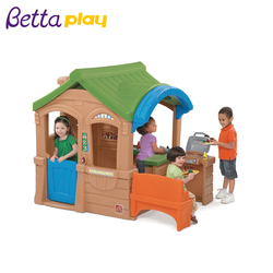 New design attractive plastic playhouse with slide