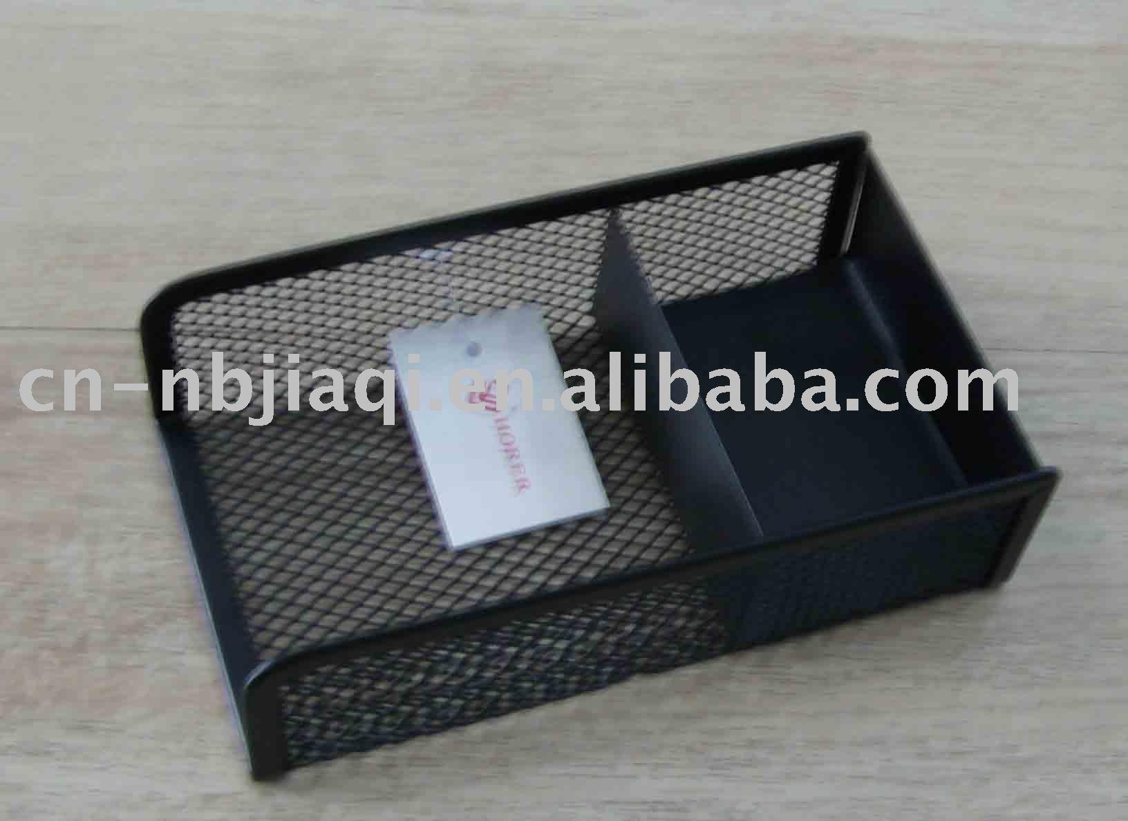 Wholesale metal notepad holder desk stationery organizer