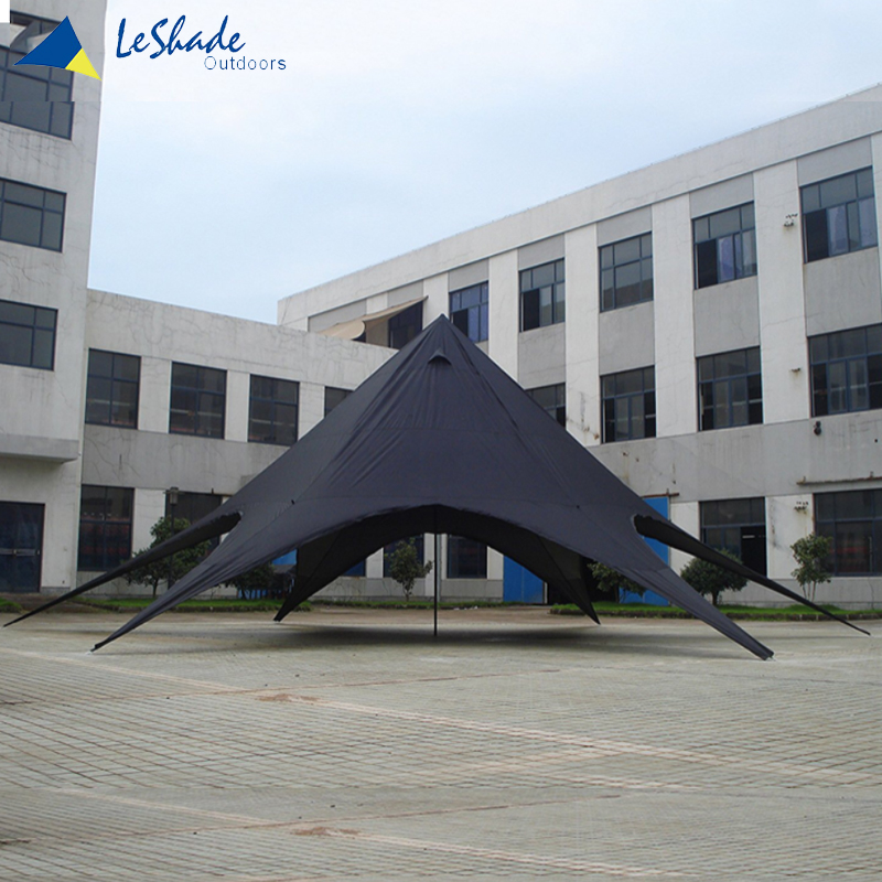 Skillful manufacture outdoor flat roof pavilion double tent for camping