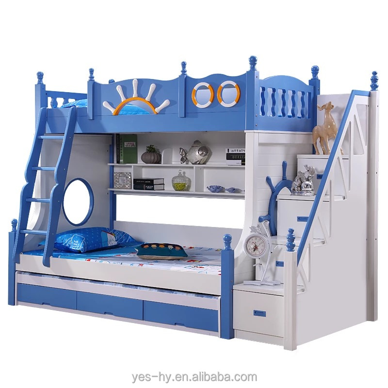 Bunk Bed With Slide Funny Cheap Kids Bed Modern Bedroom Furniture