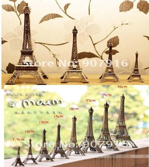 wholesale retail high 39cm metal craft arts 3D Eiffel Tower model French france souvenir paris home decoration gift desk office