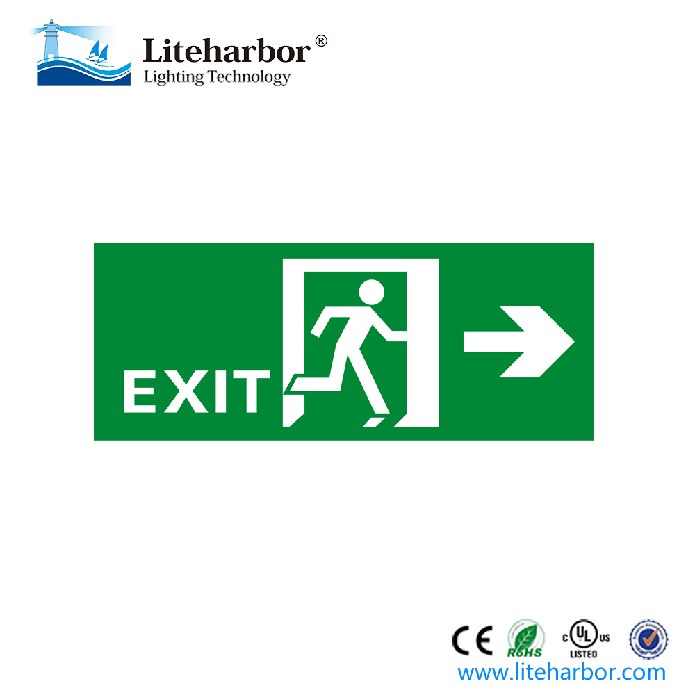 Emergency Exit Lighting Led Arrow Lighted Sign Running Man