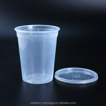 High Quality 32oz Plastic Microwave Soup Disposable Cups
