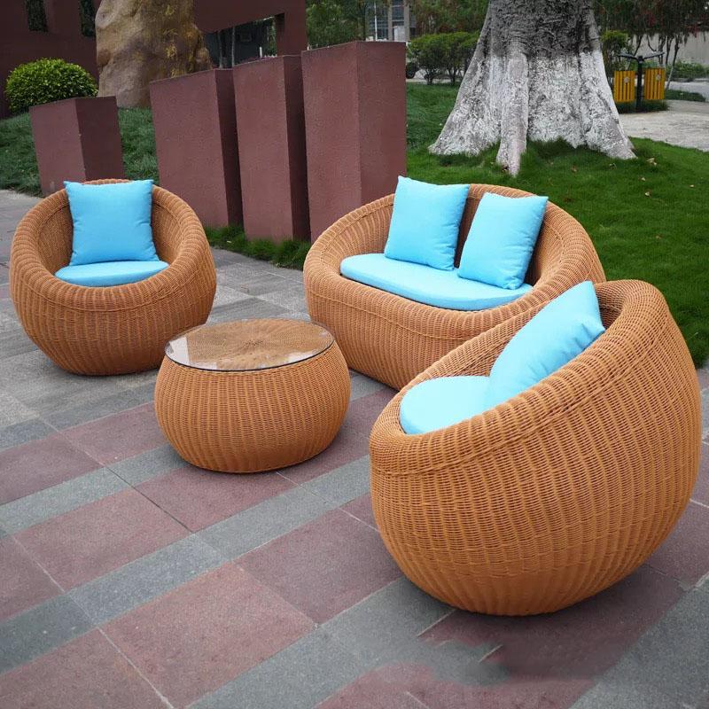 И активного отдыха на свежем воздухе, мебель плетеная диван-кровать 4 местный круглый ротанг диван-кровать