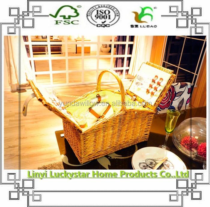 Дешевая Высококачественная плетеная корзина для пикника