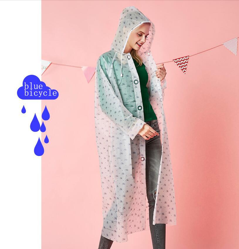 Женский дождевик Yuding, креативный непромокаемый плащ свободного покроя для мужчин и женщин, прозрачный дождевик для путешествий, универсаль...(Китай)
