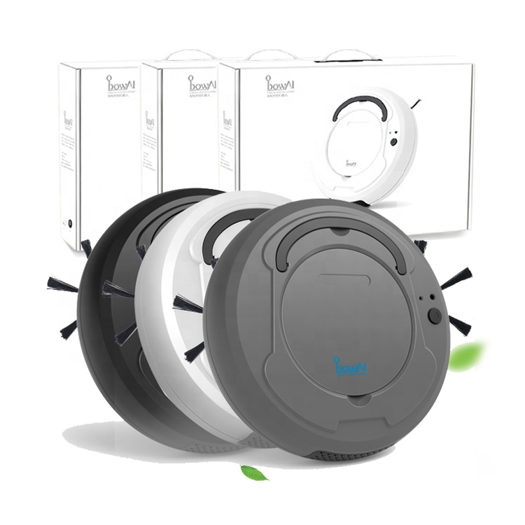 OB8 2019 New Product 3 In 1 AI Automatic Wireless Sweeper Robot Vacuum Cleaner With Anti-collision And Fall-Proof Sensor System
