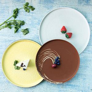 Factory Eco-friendly home round food dessert plate ceramic porcelain