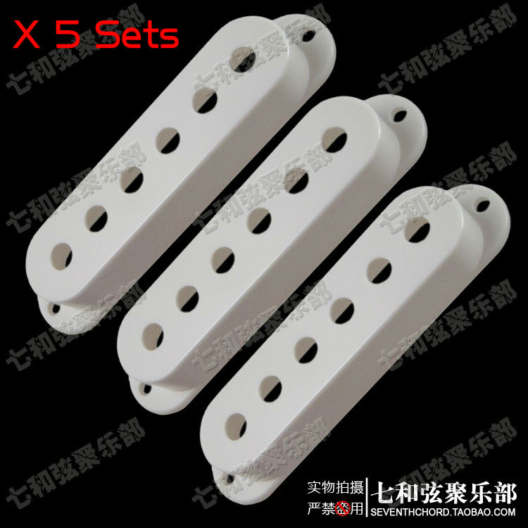 15 pcs single coil pickup covers for electric guitar string spacing 48 50 52mm white free. Black Bedroom Furniture Sets. Home Design Ideas