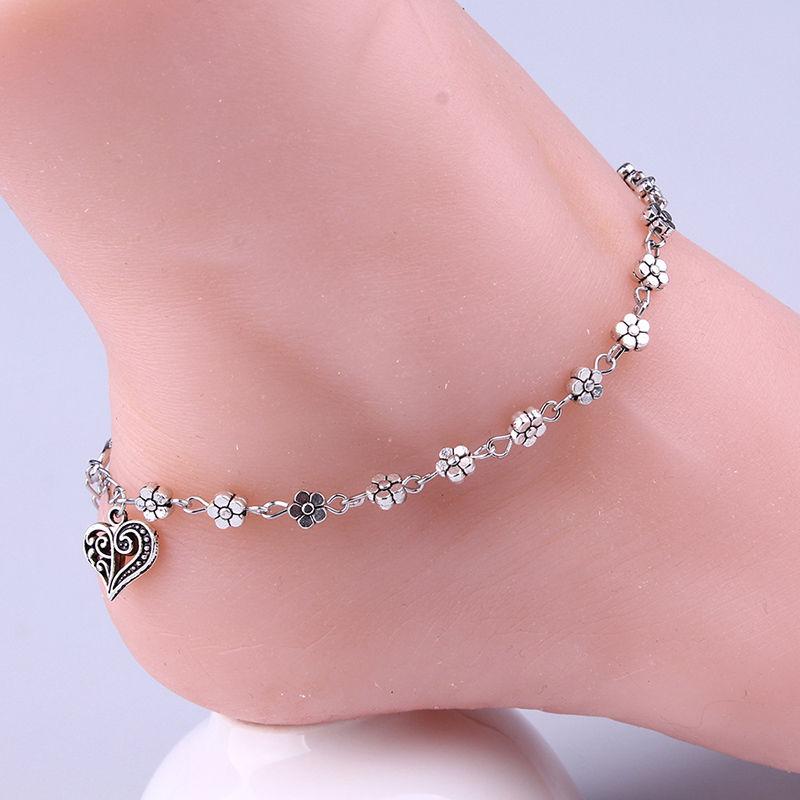 Aliexpresscom Buy New Heart Floral Foot Jewelry Fashion