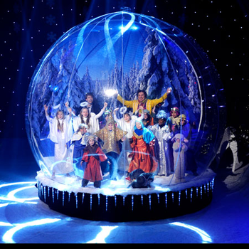 3 Meter Dia Christmas Giant Human Size Inflatable Snow Globe Photo Booth,Inflatable Bounce House Snow Globe With Blowing Snow