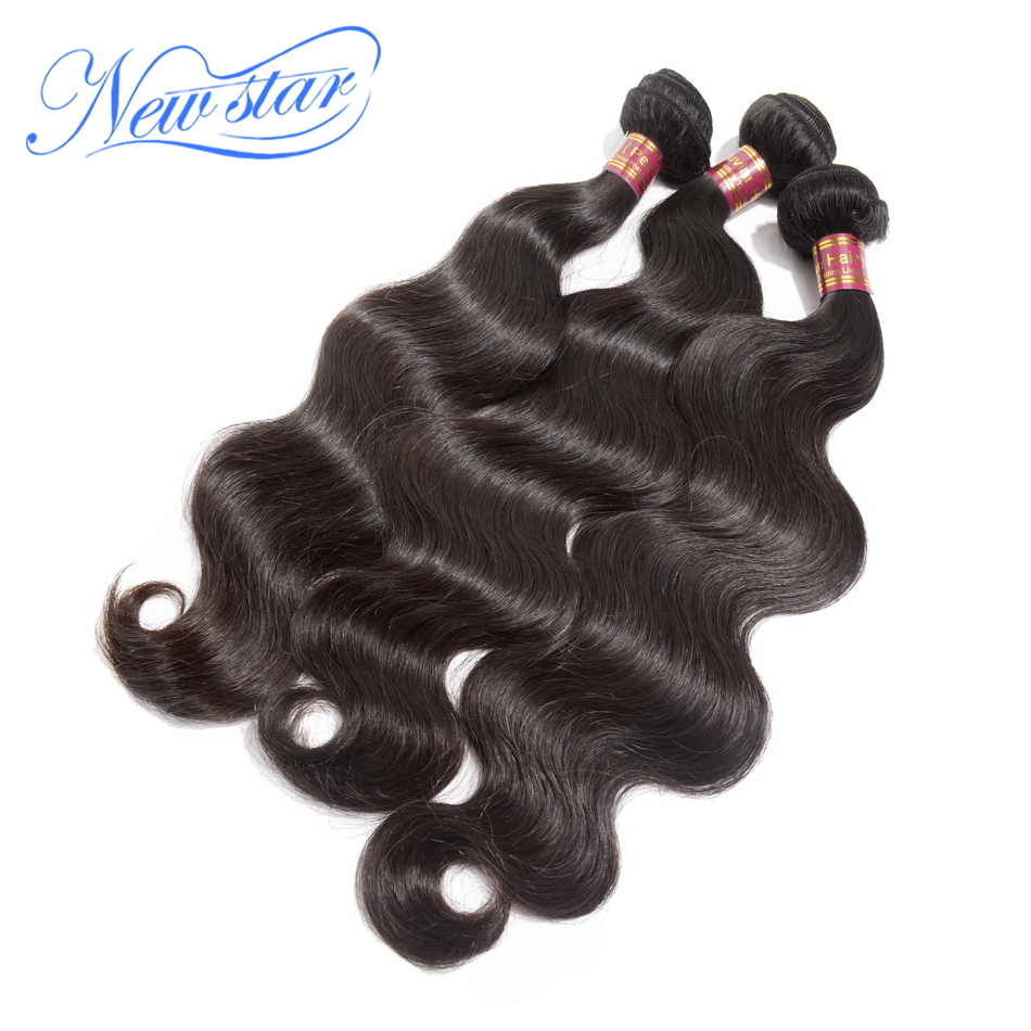 14ad9187ff Unprocessed new star hair products Mixed length 3pcs Best quality peruvian  virgin hair body wave extension machine weft