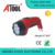 Wholesale plastic bright work light LED rechargeable torch flashlight with Brazil plug