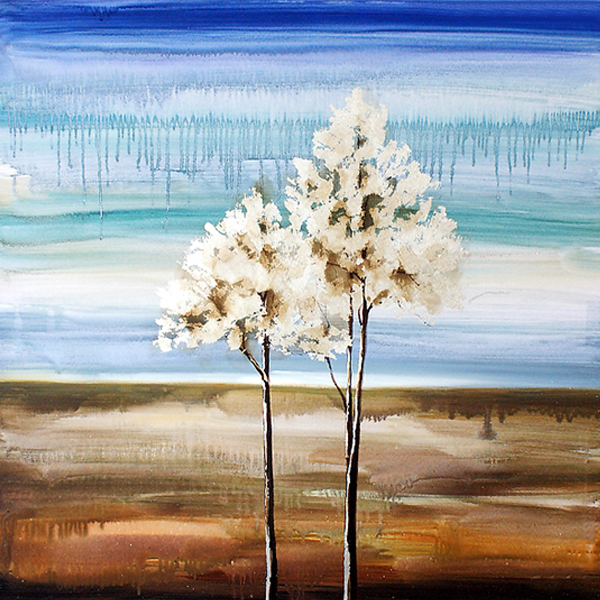 Modern Handmade Abstract Landscape Easy Painting Trees For Home Buy Product On Alibaba Com
