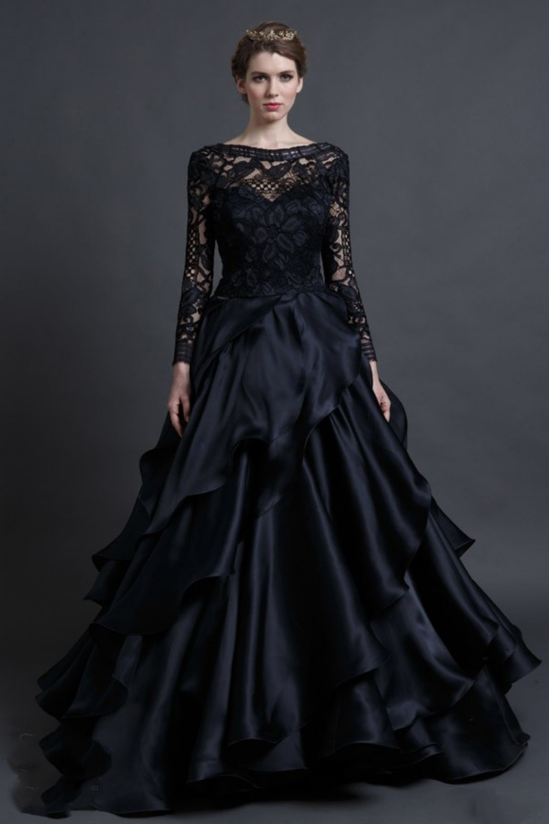 popular black gothic wedding dresses aliexpress. Black Bedroom Furniture Sets. Home Design Ideas