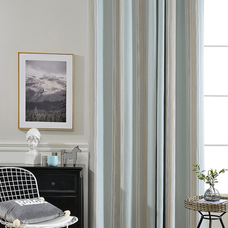 Monad Express China High Quality Stripe Multi Color Living Room Blackout Curtains Drapes Ready Made Curtain