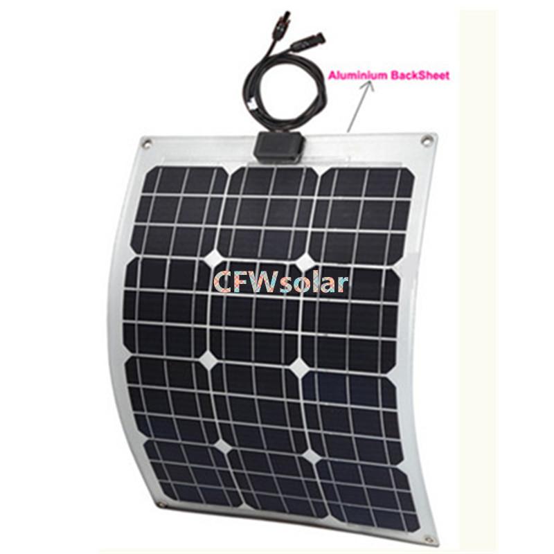 marine panneau solaire 30 w avec plaque d 39 aluminium rechargeable batterie g n rateur de. Black Bedroom Furniture Sets. Home Design Ideas