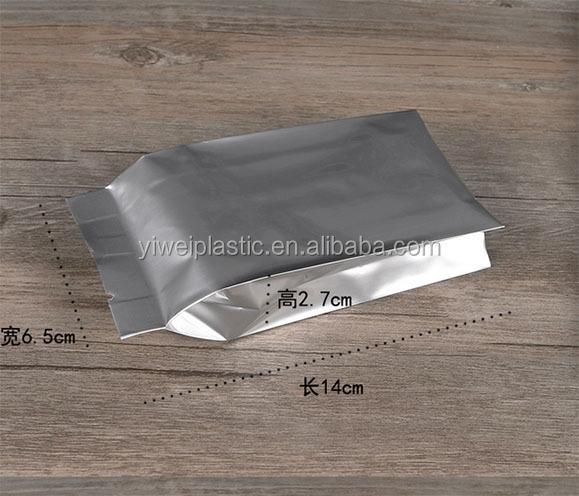 Чайные пакеты из алюминиевой фольги, пакеты для упаковки чая с боковой ластовицей из алюминиевой фольги