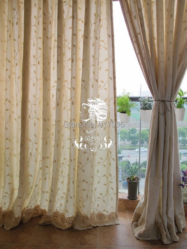 luxury high quality cotton linen wisteria print curtains for living room american country style. Black Bedroom Furniture Sets. Home Design Ideas