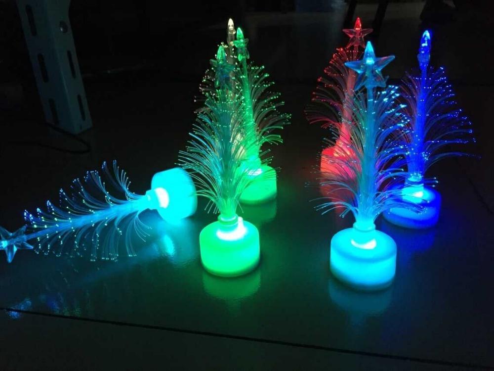 12cm Christmas Tree Fiber Optic Light Colorful Light