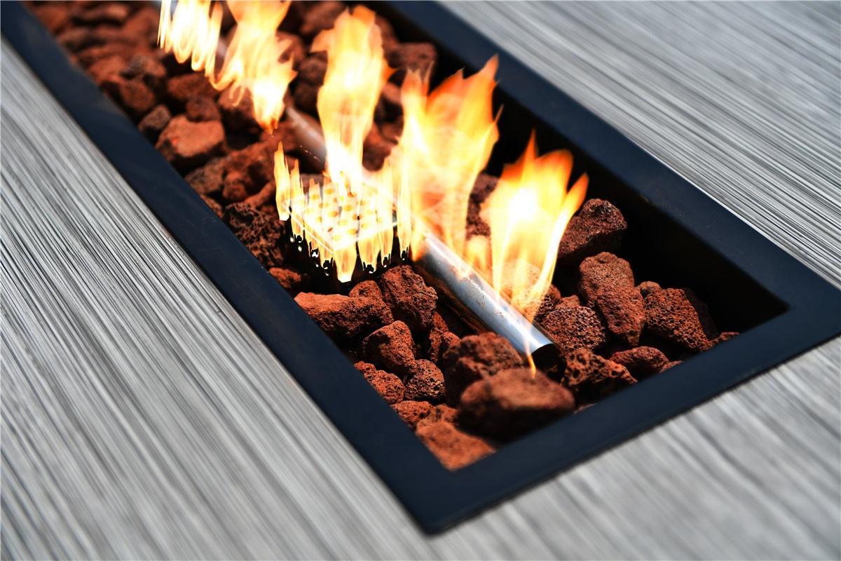 Patio Wicker Fire Pit Table Set Outdoor Wicker Furniture Rattan / Wicker