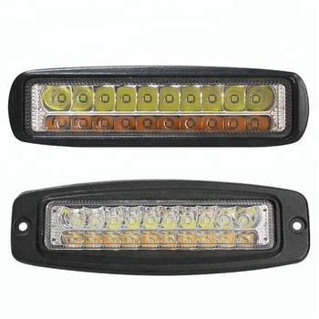 Lightechauto Wholesale DRL dual color White Amber 20W Flush Mount slim LED work light for truck 12v offroad auto cars