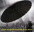 Outdoor 24k Rib Sport Umbrella Golf Umbrella Fashion Long Handle Straight Anti UV Sun Rain Stick