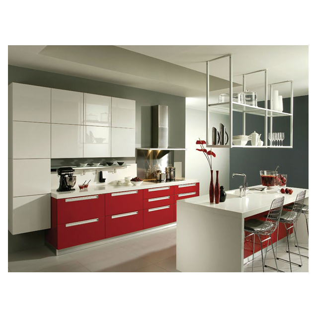 Modern Style Red White Kitchen Cabinets Buy Oppein Product On Alibaba Com