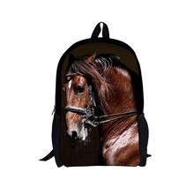 2015 3D zoo animals school bags for boys girls Cool dinosaur horse backpack  children bookbag kids fdfd46091ed6f