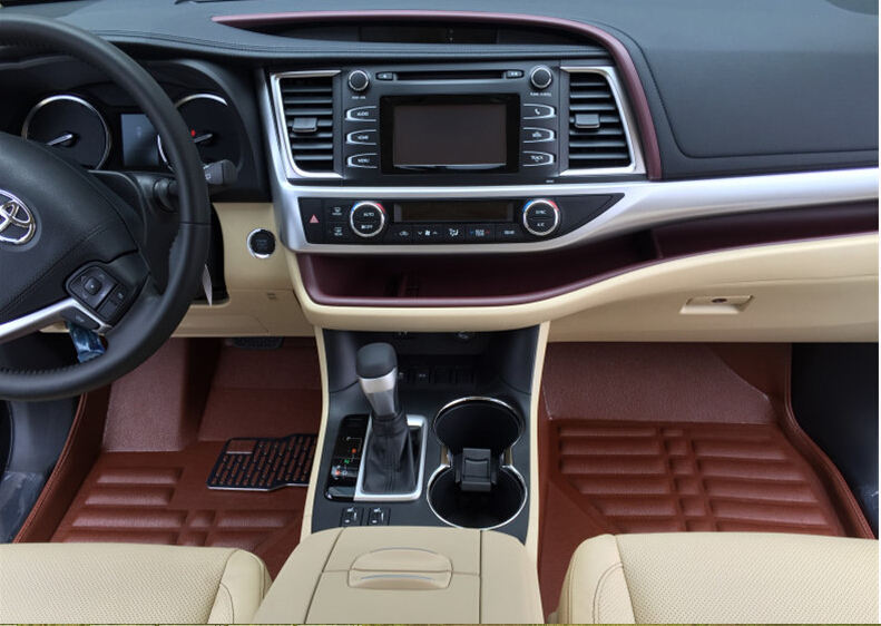 For Toyota Highlander 7 Seats 2014 2015 Pu Leather Brown