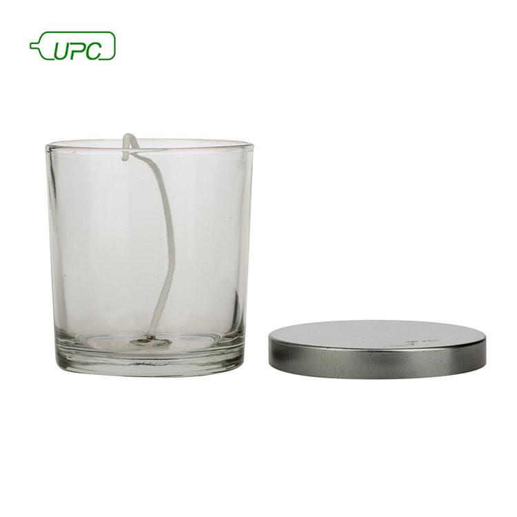 UPC брендовые многоразовые металлические крышки пустые прозрачные свечи банка стекло