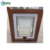 Australia Standard Blind Double Glass Low-e Industrial Awning Wooden Grain UPVC Window