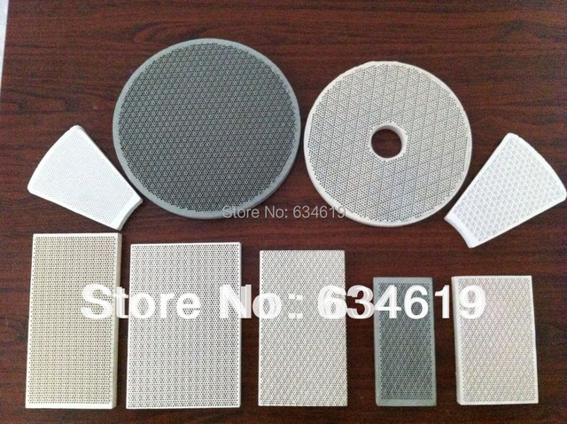 Gas Bbq Burner Ceramic Plate Porous Flameless Heat