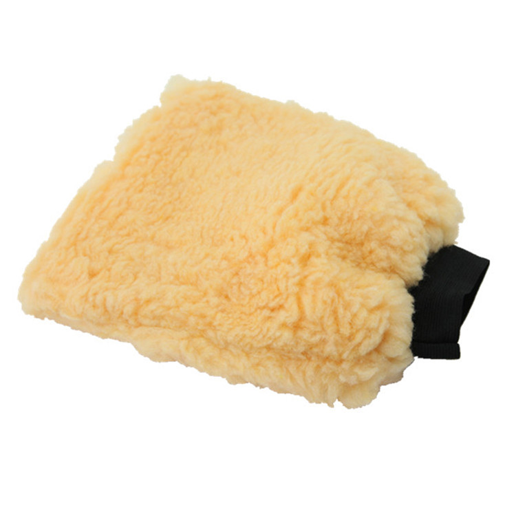Promotional double sides lint mitt car cleaning wash glove