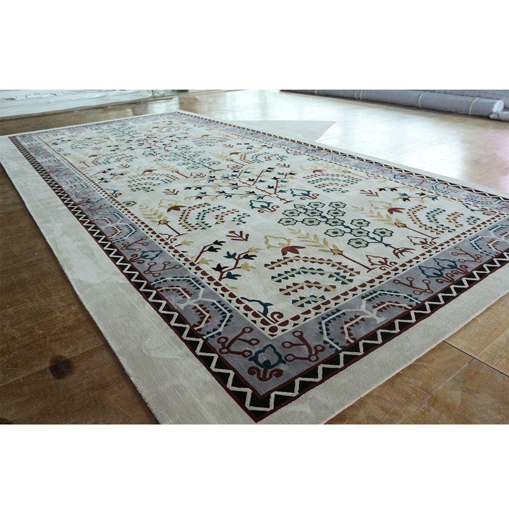 Beautiful Floral Botanical Area Rug Luxury New Zeland Guangzhou Carpet Living Room Rugs