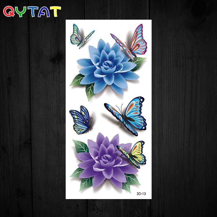 OEM High Quality Ink Waterproof Colourful Butterflies Cute Temporary Tattoo Sticker 3d Tattoos