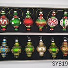 Christmas Ornament Glass Ornament Wholesale New Arrival Indian Culture Mini Handpainted Glass Drop Christmas Hanging Ornament