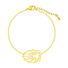 Женский браслет Cxwind, браслет из нержавеющей стали с геометрическим шармом, в виде горного шарма, сердце с бесконечности(Китай)