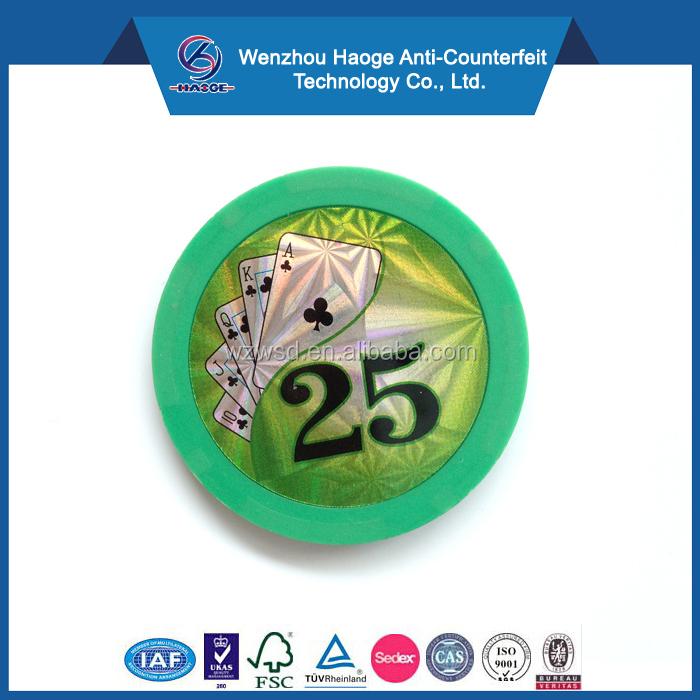 Hologram Laser Poker Chip Stickers Casino Poker Chips