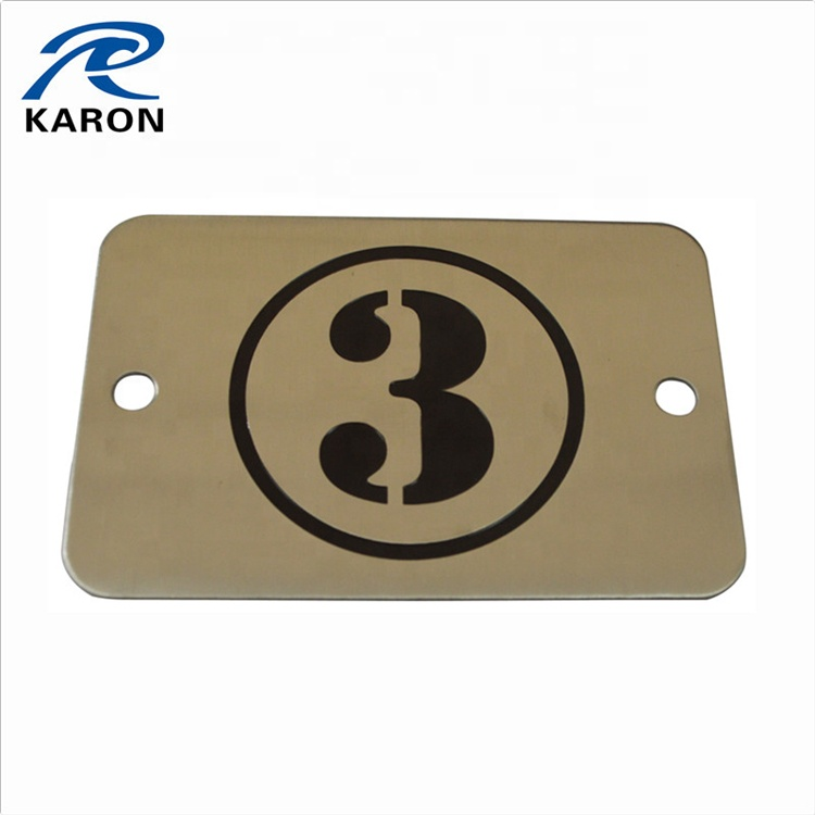 wholesale custom made furniture metal label in stainless steel