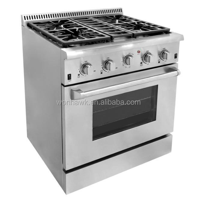 30 inch free standing range with oven