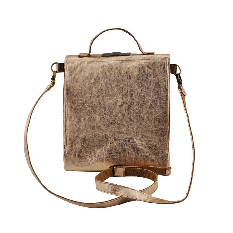 Прочная моющаяся бумажная сумка-холодильник для ланча, сумка-холодильник из натуральной Веганской бумаги