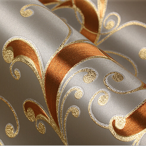 Modern Luxury Silver Background Wallpaper 3D PVC Gold Foil ...