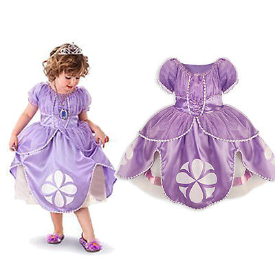 Girls Kids font b Fancy b font font b Dress b font Clothes Purple Pageant Princess