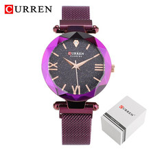 Часы CURREN женские, модные, повседневные, кварцевые с магнитной пряжкой(Китай)